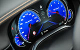 Alpina B7 blue instrument cluster