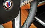 Alpina B7 green stitched steering wheel
