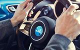 Alpine A110 steering wheel