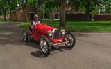 Bugatti Baby II Andy Wallace driving