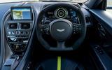 Aston Martin DB11 UK first drive steering wheel