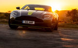 Aston Martin DB11 UK first drive sunset front