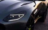 Aston Martin DB11 UK first drive headlight