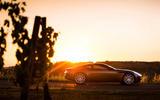 Aston Martin DB11 in the sunset