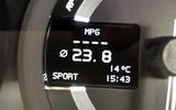 Aston Martin Vanquish S MPG readout