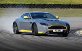 Aston Martin V12 Vantage S drifting