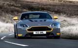 Aston Martin V12 Vantage S cornering