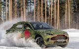 Aston Martin DBX winter testing