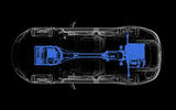 Aston Martin Rapid E drivetrain diagram