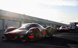 Aston Martin Valkyrie driven by Red Bull F1 drivers - pits
