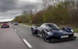Aston Martin Valkyrie road testing front traffic