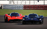 Aston Martin Valkyrie driven by Red Bull F1 drivers - front