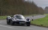 Aston Martin Valkyrie road testing front corner