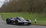 Aston Martin Valkyrie road testing side corner