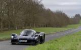 Aston Martin Valkyrie road testing front far