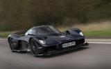Aston Martin Valkyrie road testing side front