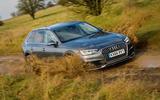 Audi A4 Allroad quattro Sport 3.0 TDI 218 S tronic driving through mud