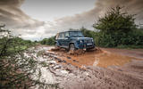 Mercedes-Maybach G650 Landaulet front view on muddy track