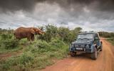Mercedes-Maybach G650 Landaulet next to an elephant