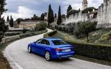 Audi A4 rear cornering