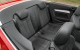 Audi A5 Cabriolet rear seats