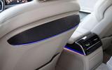 Audi A8 rear lit seats
