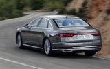 Audi A8 rear cornering