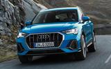 Audi Q3 front grille shot