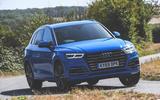 Audi Q5 55 TFSIe quattro front three quarters on the road