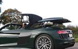 Audi R8 Spyder V10 Plus roof opening