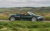 Audi R8 Spyder V10 Plus side profile