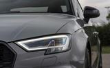 Audi RS3 saloon LED headlights