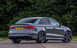 Audi RS3 saloon rear profile