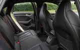 Audi RS3 saloon rear seats