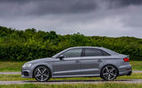 Audi RS3 saloon side profile