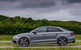 Audi RS3 saloon side profile