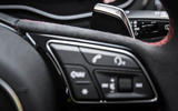 Audi RS4 Avant paddle shifters