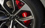 Audi RS4 Avant red brake calipers