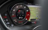 Audi RS4 Avant Virtual Cockpit display