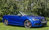 Audi S3 Cabriolet roof down