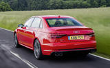 2017 Audi S4 saloon rear shot