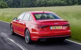 2017 Audi S4 saloon rear shot
