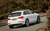 Audi SQ5 Plus 2016 UK review cornering rear