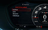 Audi TT RS Coupé Virtual Cockpit menus