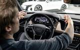 """Markus Däsch: """"The e-tron GT's monoposto cockpit has a strong driver focus"""""""