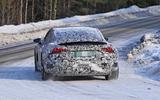 Audi E-Tron GT spyshots rear close