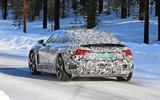 Audi E-Tron GT spyshots rear 3/4 view