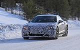 Audi E-Tron GT spyshots front far