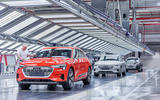 Audi e-tron Brussels factory production line