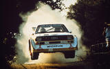 Audi S1 quattro rally action